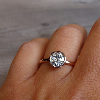 rose gold moissanite ring
