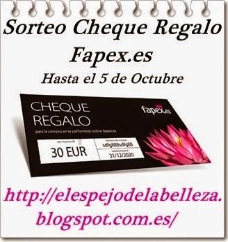 Sorteo cheque regalo fapex.es