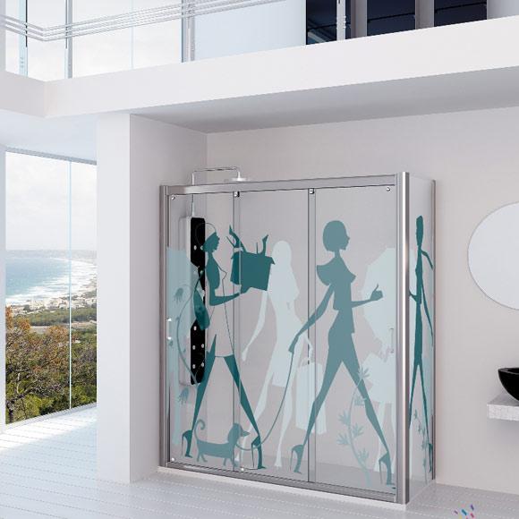 Cortina De Baño O Mampara:Cortinas o mamparas de vidrio para el baño