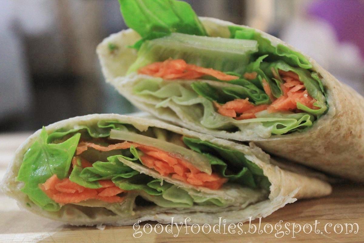 GoodyFoodies: Recipe: Homemade Hummus + Vegetarian Wrap