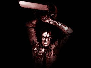 Killer With Chainsaw Dark Gothic Wallpaper