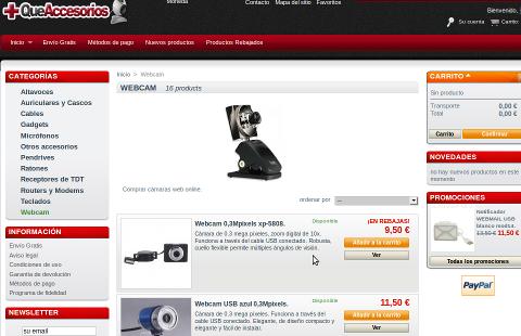 tienda online comprar webcams