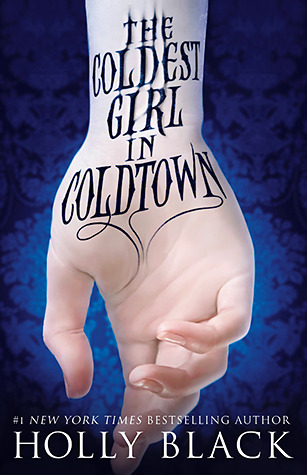 Image of Coldest Girl in Coldtown cover (hand with writing down inside of the wrist)