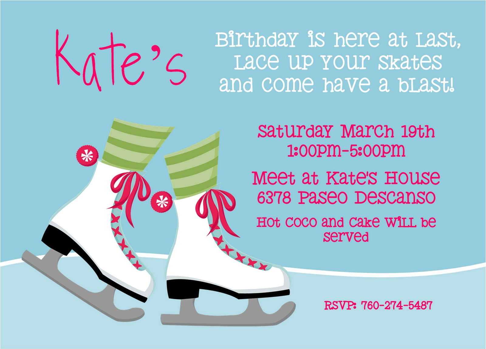 wait...before I forget: Kate\'s Skate Party