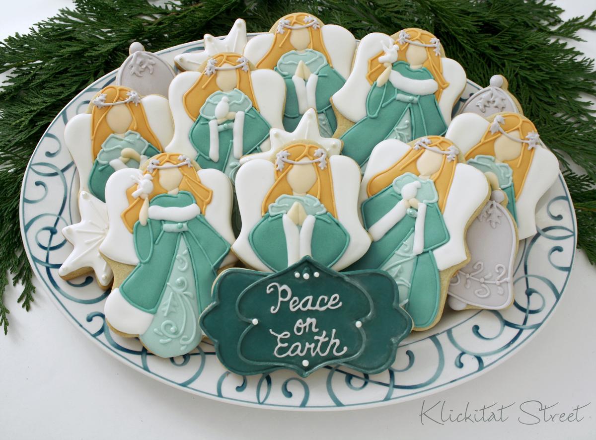 Christmas angel cookies klickitat street