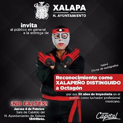 Cabildo nombrará Xalapeño Distinguido al luchador Octagón