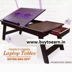 PayTM : Buy Portable Laptop Table upto 75% off + 50% Cashback