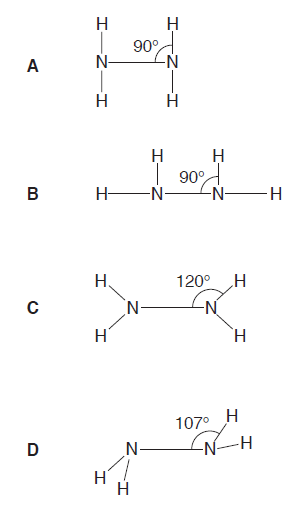 N2h4 Molecular Geometry Chemistry Reference: 9...