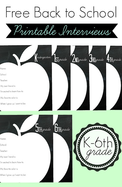Back to School Printable Interviews. What a fun way to record these precious milestones! The kids will love answering the questions, and I'll get a kick out of their answers.