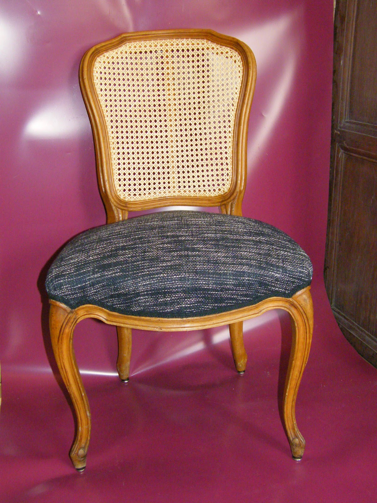 Normandie cannage chaise louis xv cann e et tapiss e de for 18 rue de la chaise