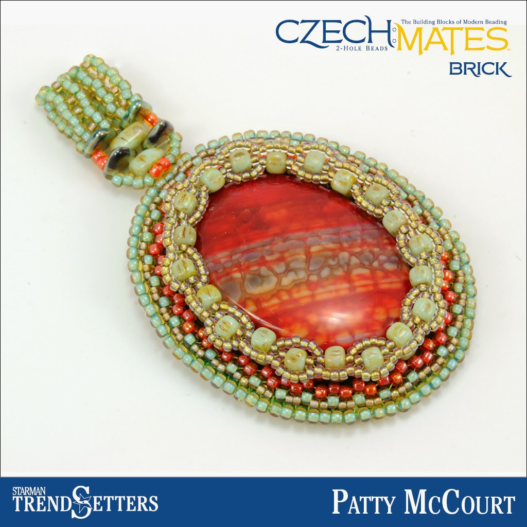 CzechMates Brick pendant by Starman TrendSetter Patty McCourt