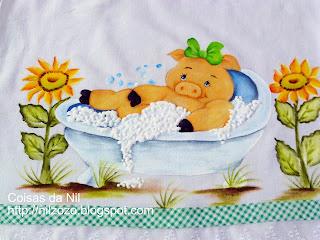 """""""pintura porquinha na banheira"""""""