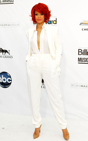 Rihanna white+suit