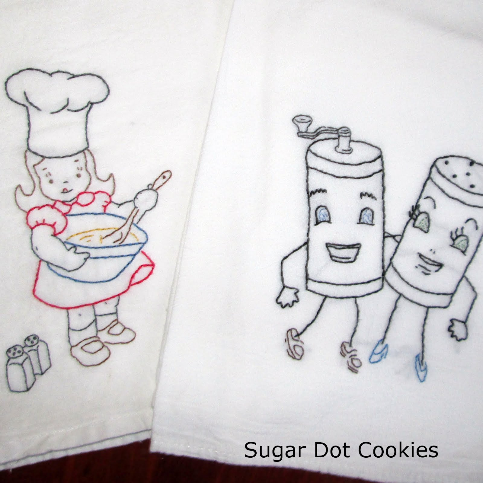 Kitchen Towel Embroidery Designs