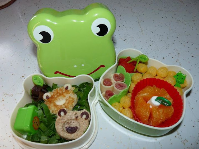 frog bento lunch