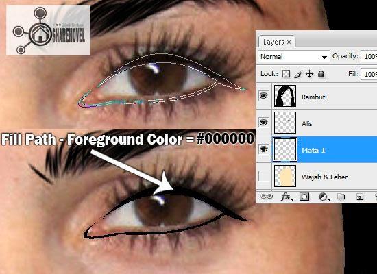 cara membuat vector mata di photoshop - tutorial membuat vector di photoshop - membuat foto menjadi kartun dengan photoshop