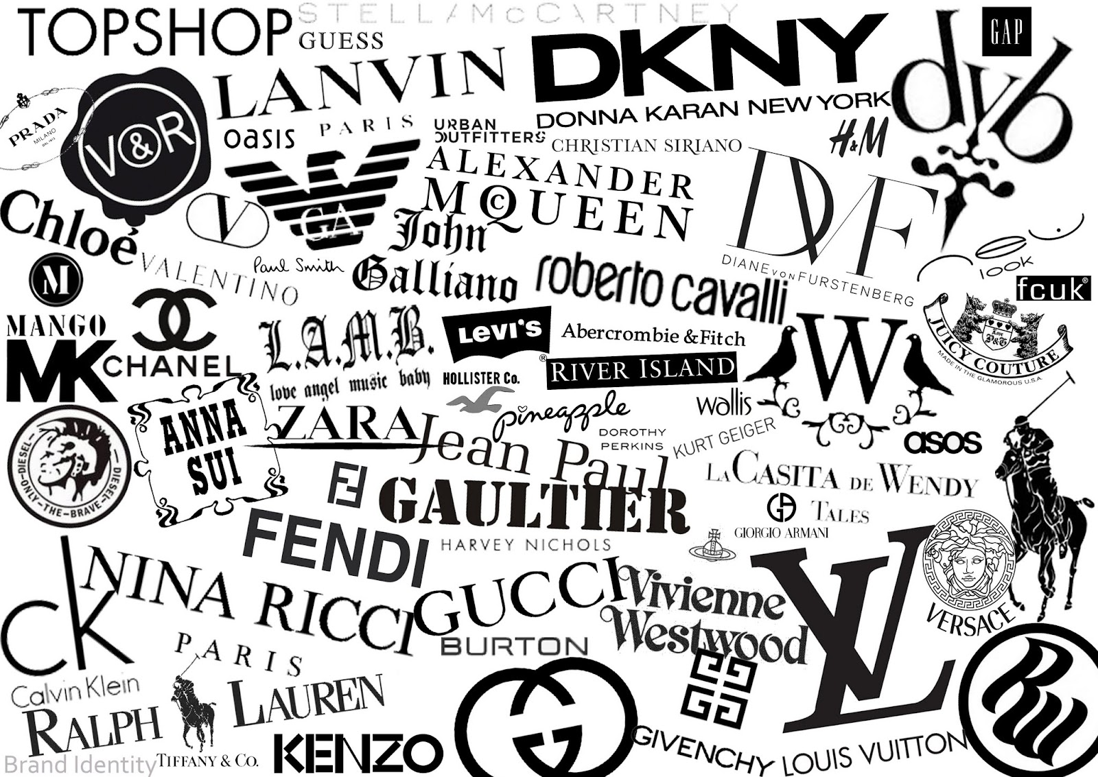Wide range of fashion logos