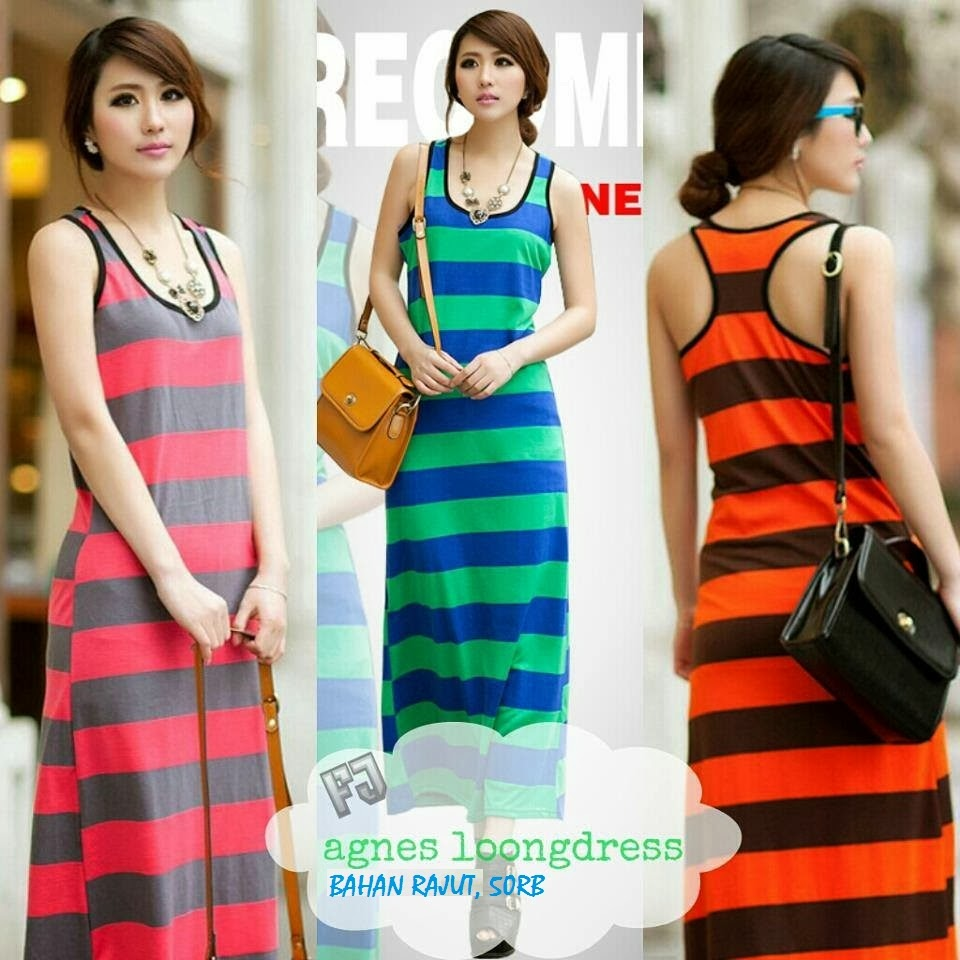 Model Longdress Bahan Rajut Murah Grosiran Terbaru 2015