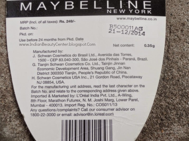 Maybelline Colossal Kajal Smoked Silver Review