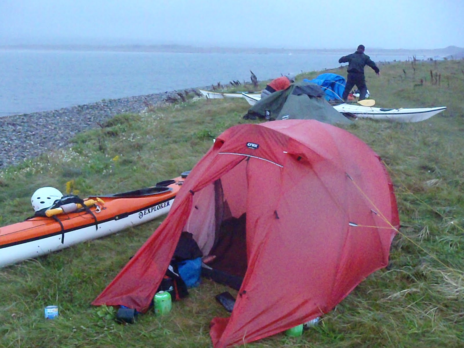 It wasnu0027t long before rain and strong winds arrived we spent the evening talking from one tent to the next ... and getting some calories in. & Sea Kayaking Anglesey | North Wales: Around Anglesey Sea Kayak ...