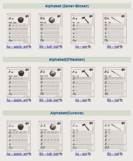 Handwriting Skills Worksheets