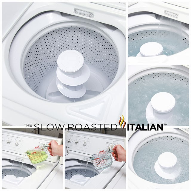 how to clean top loading washing machine with vinegar