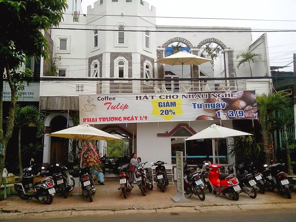 quán Cà Phê TuLip - một quán café khá nổi tiếng ở thành phố Buôn Mê Thuột