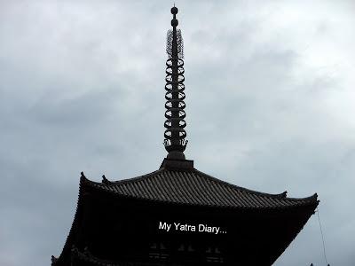 Kofukuji's tip of five tier pagoda – A symbol of Nara in Japan