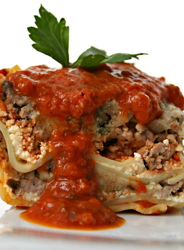 Scrumpdillyicious: Turkey Lasagna with Ricotta, Mushrooms & Spinach