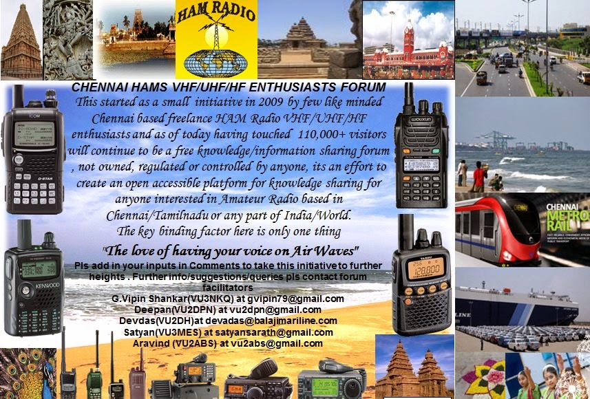 Chennai HAM/VHF Enthusiasts Forum