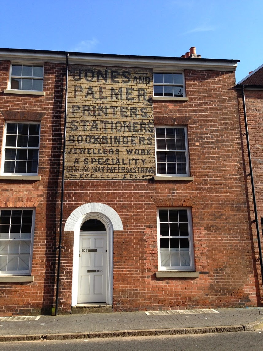 Ghost sign in the Jewellery Quarter, Birmingham