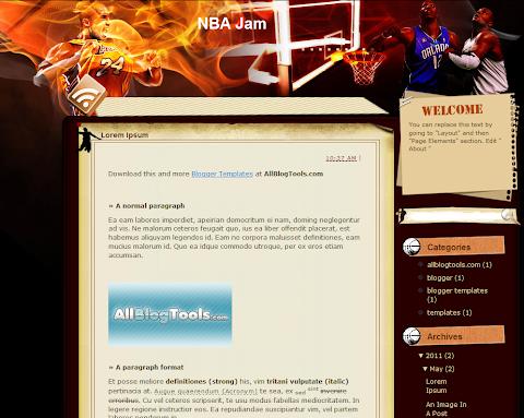NBA Jam Blogger Theme