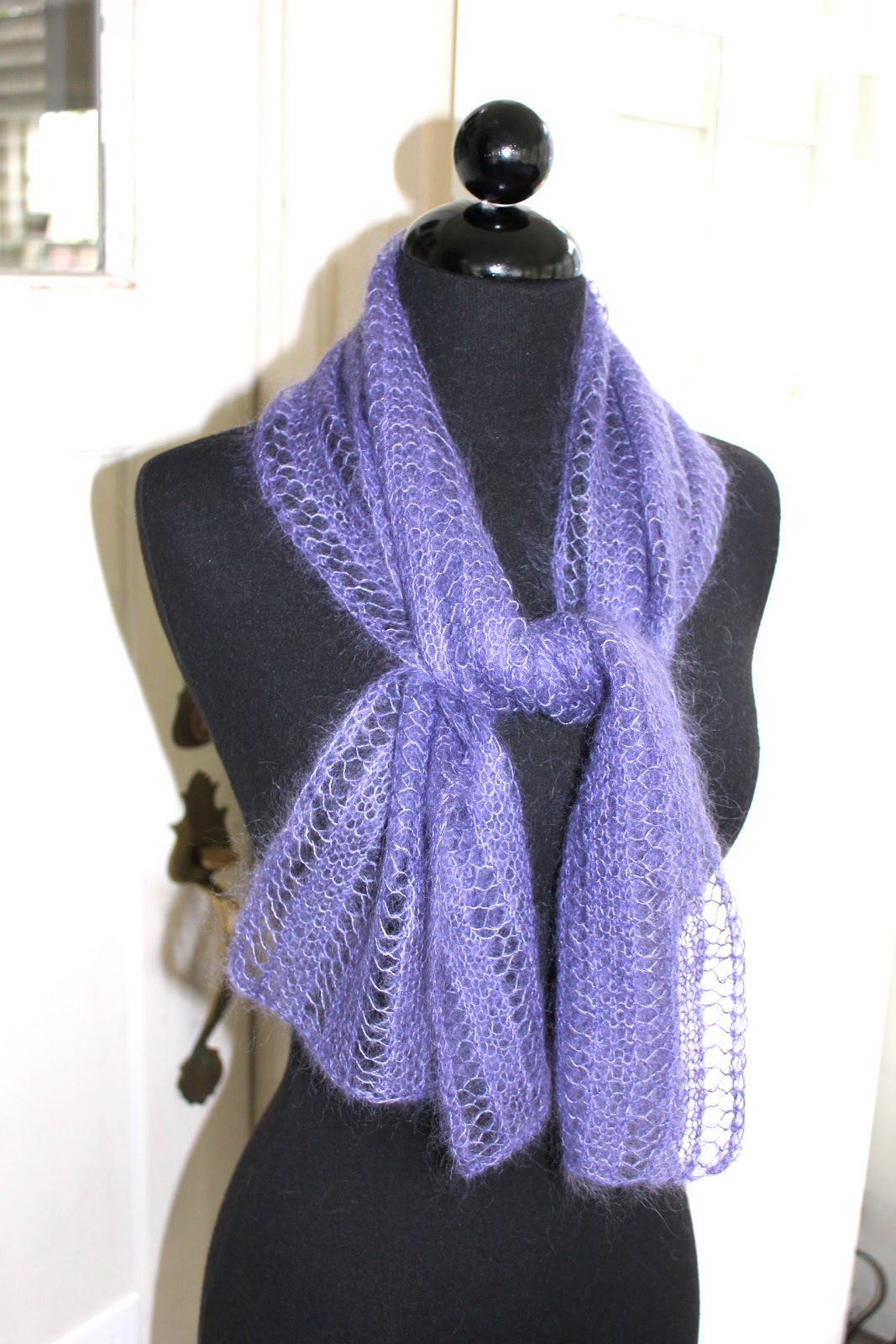 Knitting Pattern Scarf Rowan : Absolute Knits: Rowans Kidsilk Haze Free Lace Scarf Pattern