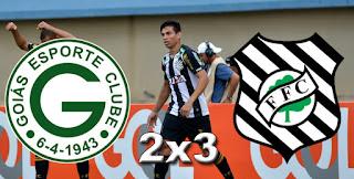 Placar Goiás 2x3 Figueirense