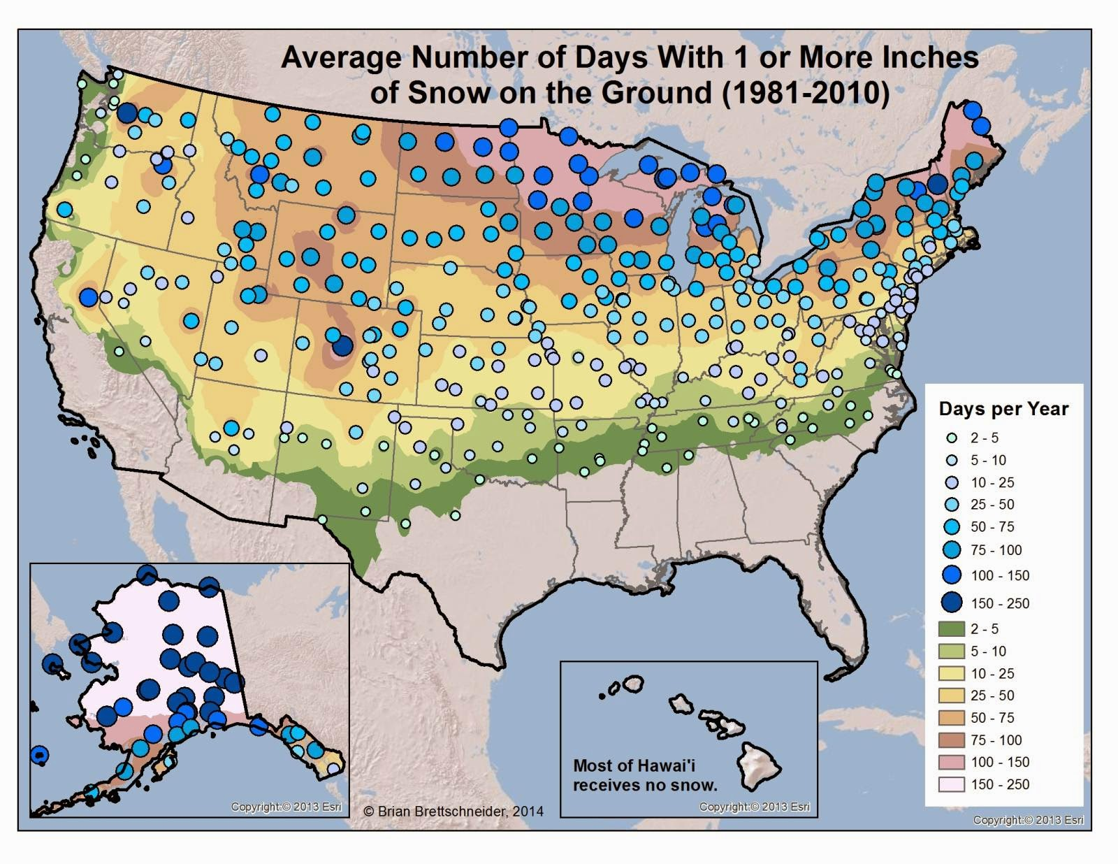 Deep Cold Interior And Northern Alaska Weather Climate Length - Us snow cover map weather com