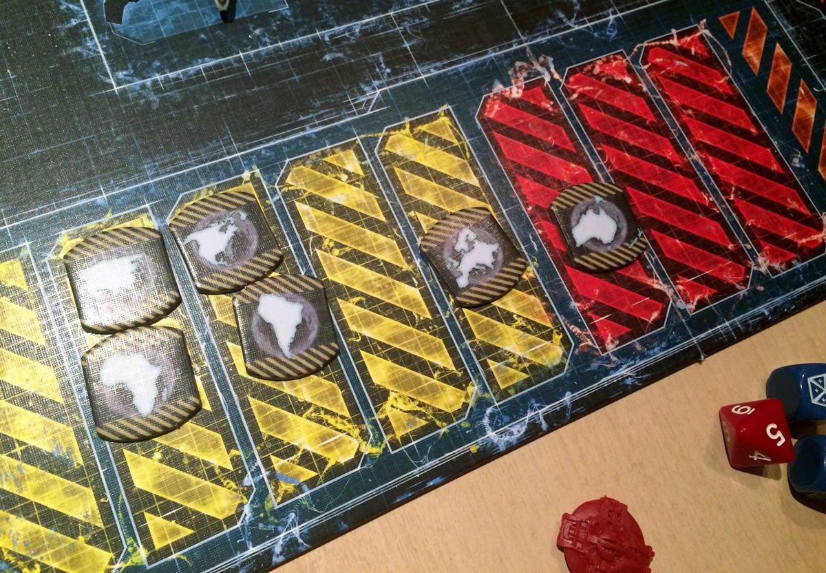 XCOM: The Board Game Panic levels