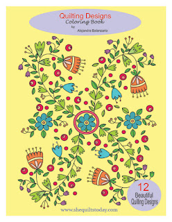 Coloring book quilting designs