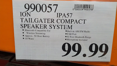 Ion IPA57 Tailgator Bluetooth Speaker System at Costco