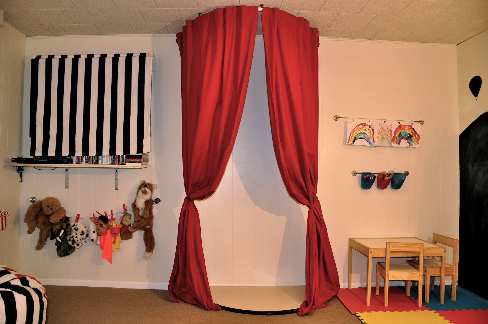 Playroom stage curtains detail kids traditional with curtain.