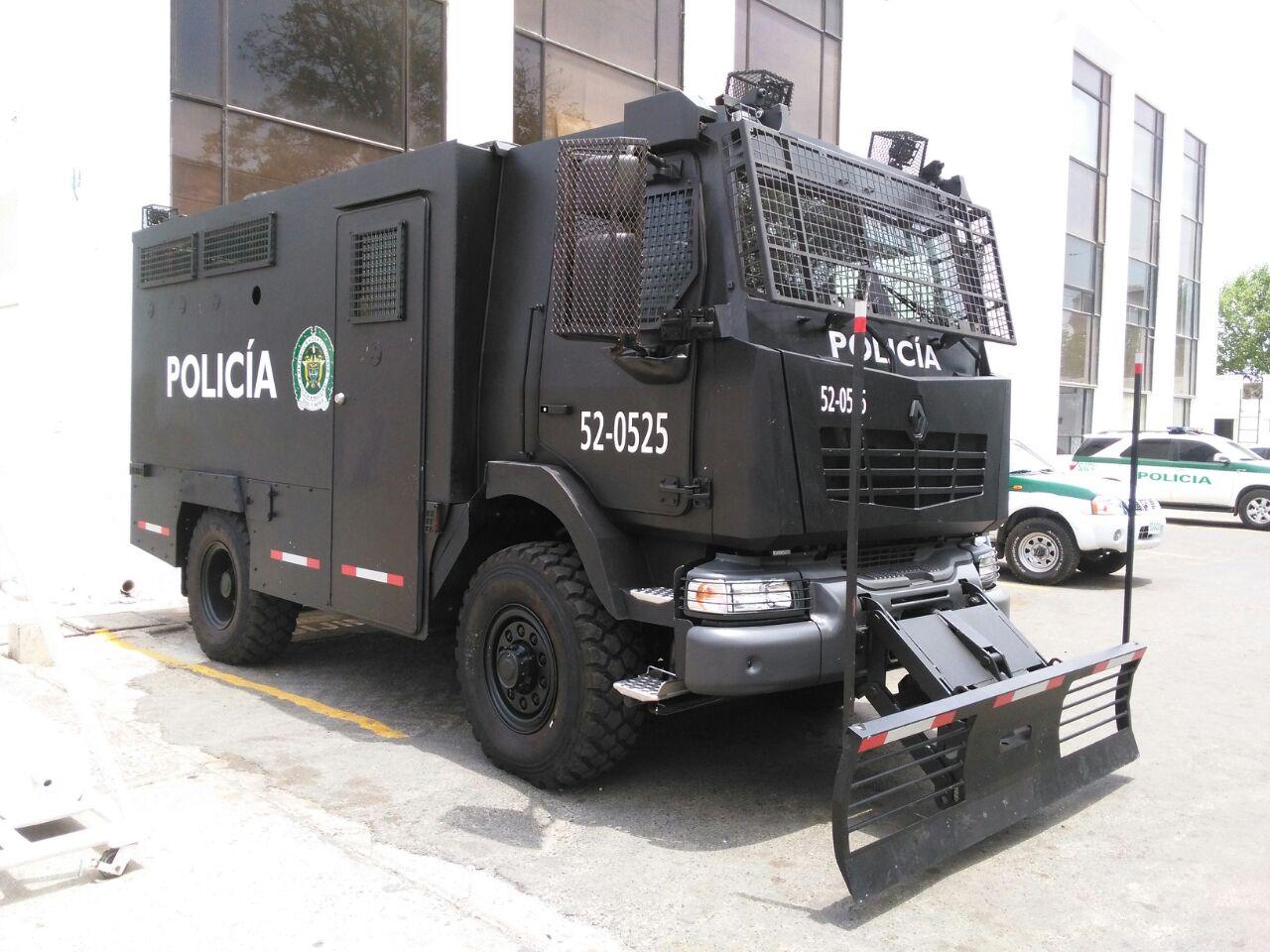 Así son los nuevos blindados Renault Defense MIDS de la Policía de Colombia.