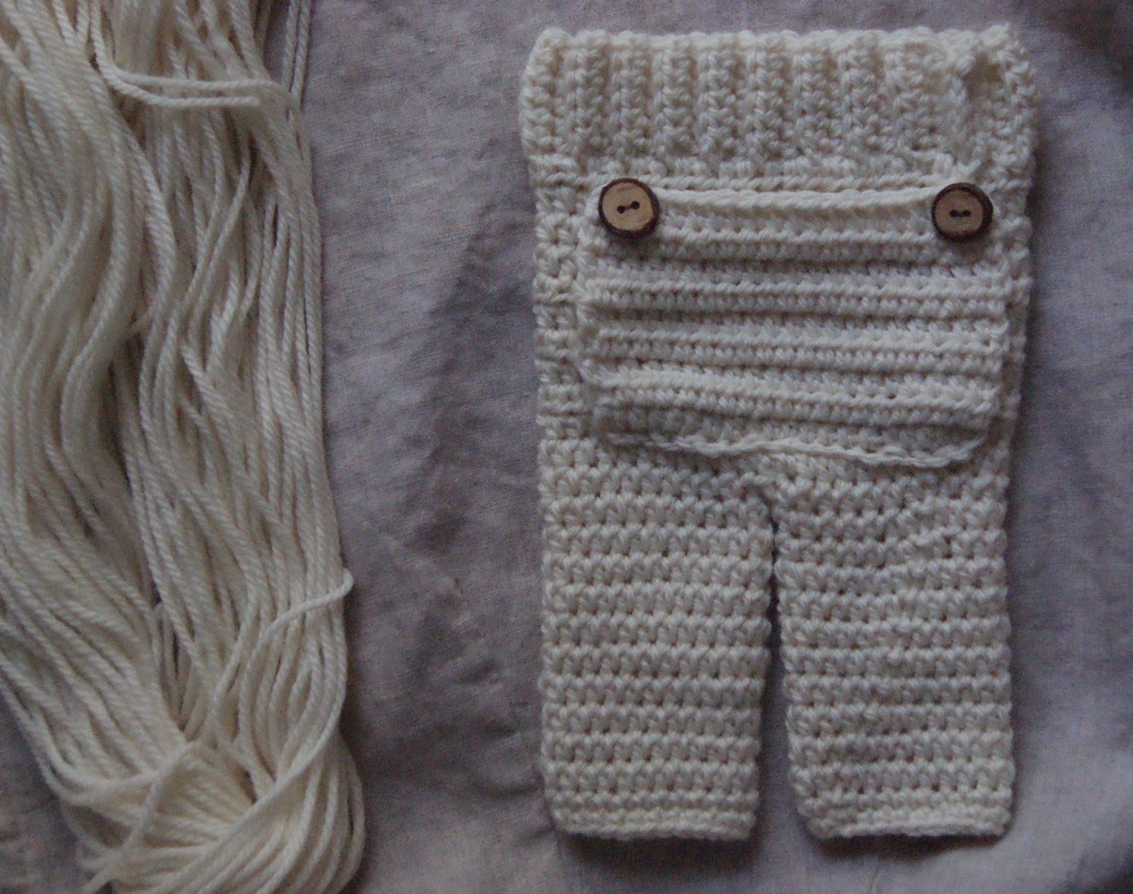 Shirley And Eadie Newborn Pants With Bum Flap Crochet Pattern