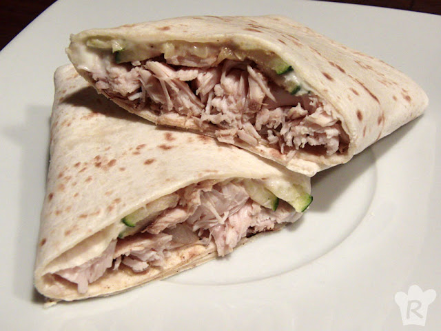 Wrap de pollo con mayonesa de yogur
