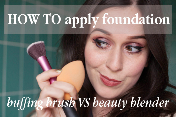 Beauty review: comparing buffing brush with beautyblender
