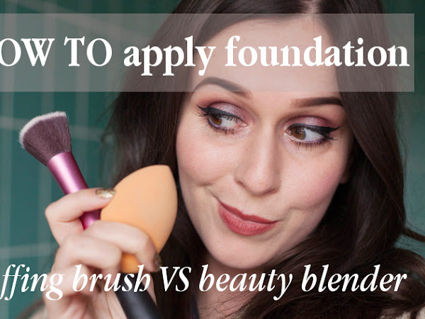Beauty: applying foundation with buffing brush vs beautyblender