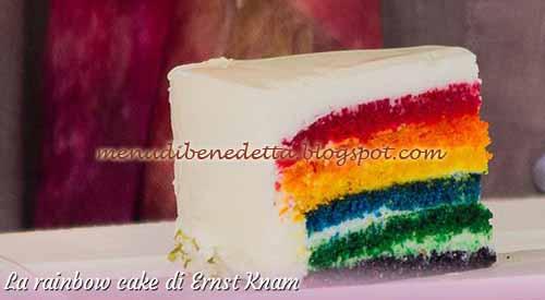 Rainbow cake ricetta Ernst Knam