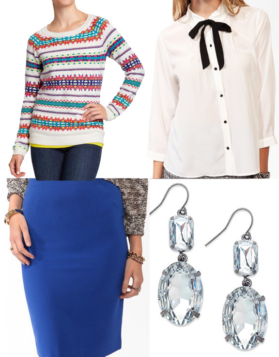 Über Chic for Cheap: Inspired: J.Crew {Fair Isle + Cobalt}