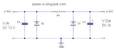 ... penurun tegangan menggunakan dioda zener rangkaian penurun tegangan dc