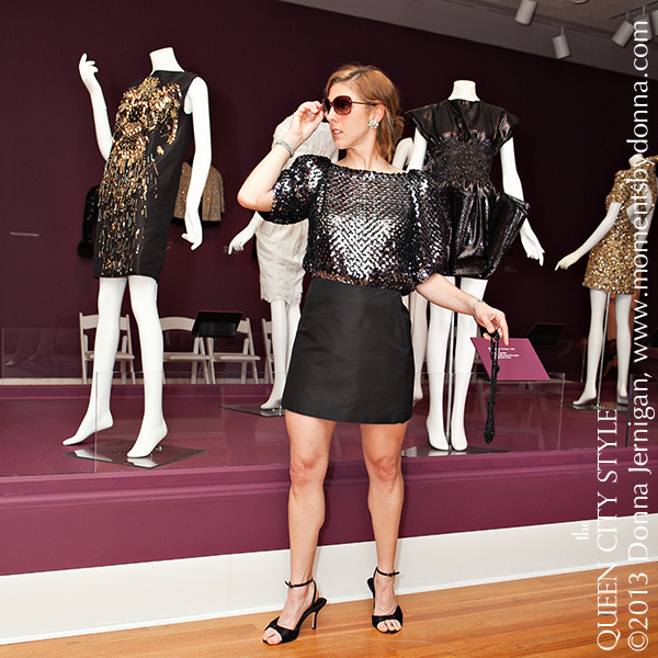 KevinVain, Vintage Sequin Blouse, the Queen City Style, The Mint Museum And The Bead Goes On, Moments by Donna