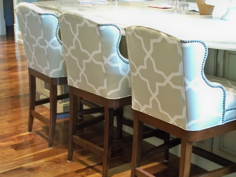 Fabric Upholstered Counter Height Bar Stools