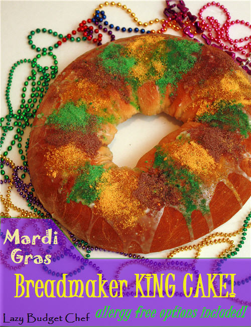 Mardi gras king cake recipe bread machine